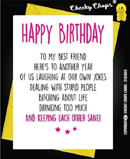 Stupendous Cheeky Chops Funny Birthday Card Best Friend C21 Party Village Funny Birthday Cards Online Aboleapandamsfinfo